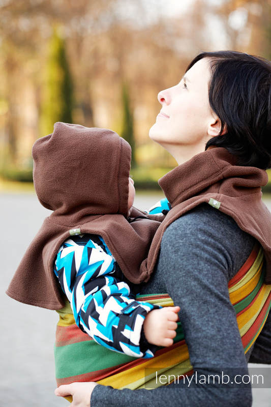 Turtleneck for two - brown #babywearing