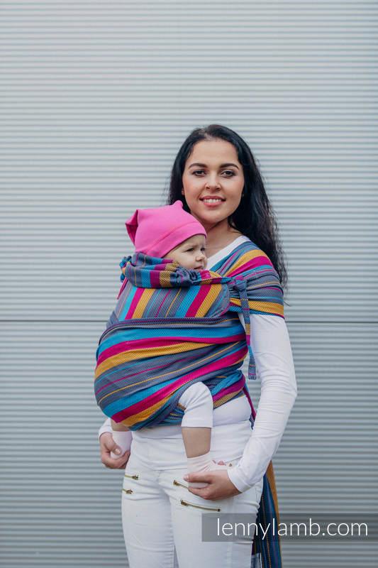 WRAP-TAI carrier Mini with hood/ herringbone twill / 100% cotton / LITTLE HERRINGBONE NIGHTLIGHTS  #babywearing