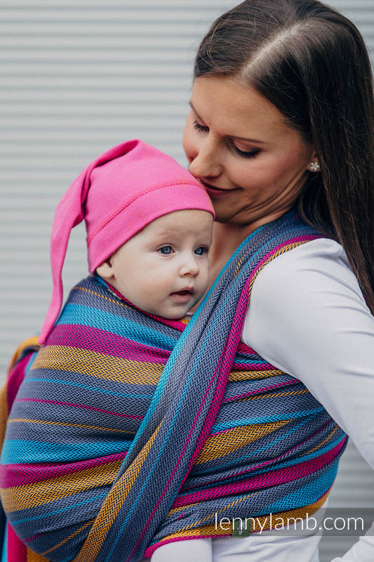 Baby Wrap, Herringbone Weave (100% cotton) - LITTLE HERRINGBONE NIGHTLIGHTS - size XL #babywearing