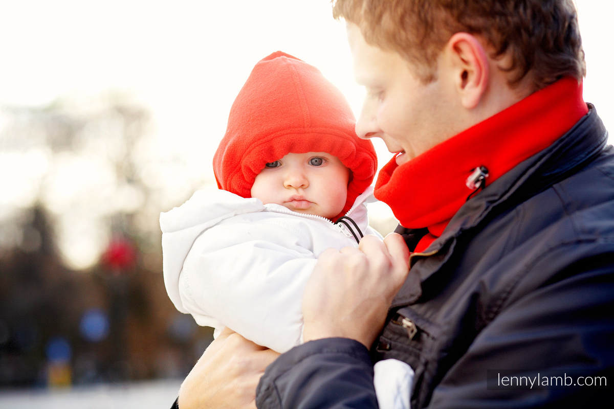 Turtleneck for two - red #babywearing