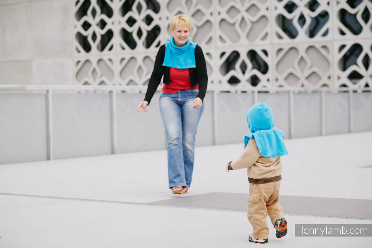 Turtleneck for two- Turquoise #babywearing