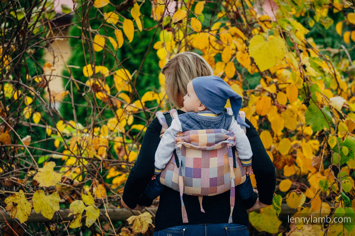 Lenny Buckle Onbuhimo, standard size, crackle weave (100% cotton) - Wrap conversion from QUARTET  #babywearing