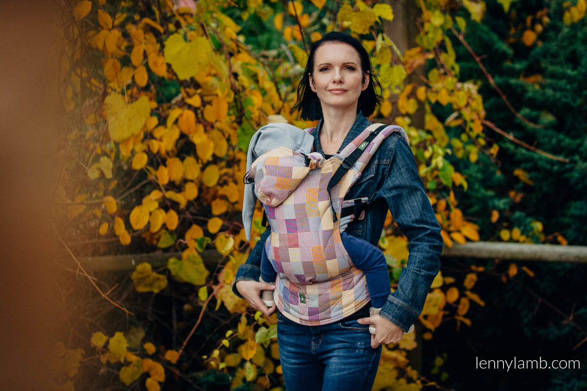 Ergonomic Carrier, Toddler Size, crackle weave 100% cotton - wrap conversion from QUARTET  - Second Generation #babywearing