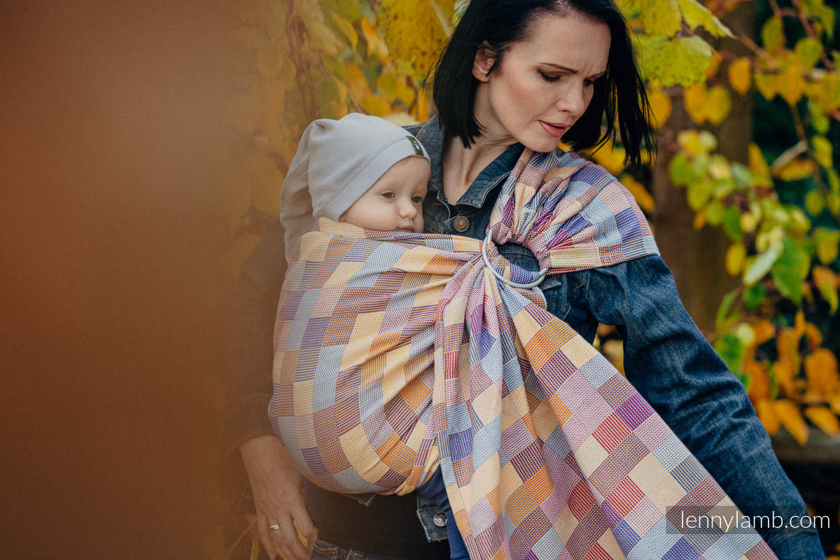 Ringsling, Crackle Weave (100% cotton) - with gathered shoulder - QUARTET  - long 2.1m #babywearing