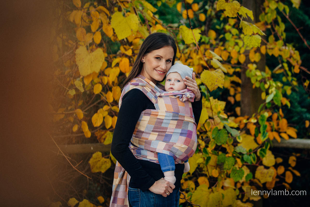 WRAP-TAI carrier Mini with hood/ crackle twill / 100% cotton / QUARTET  #babywearing