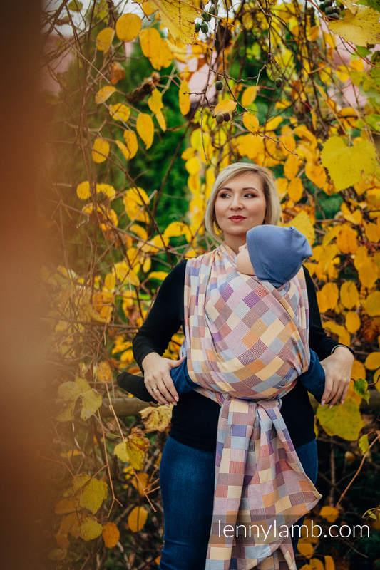 Fular, tejido crackle (100% algodón) - QUARTET - talla M (grado B) #babywearing