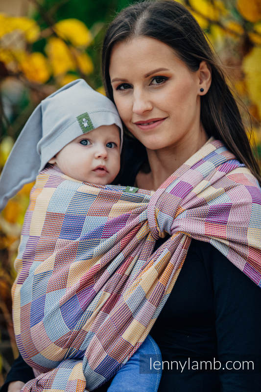 Baby Wrap, Crackle Weave (100% cotton) - QUARTET  - size S (grade B) #babywearing