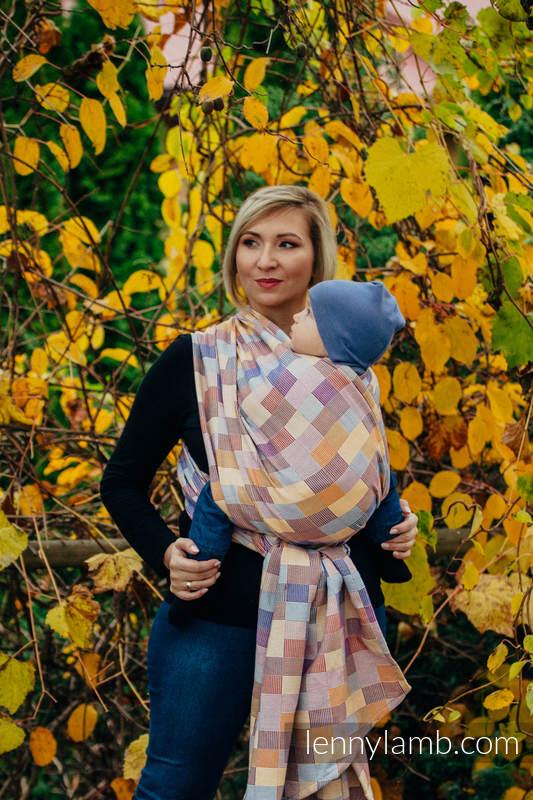 Fular, tejido crackle (100% algodón) - QUARTET - talla M #babywearing