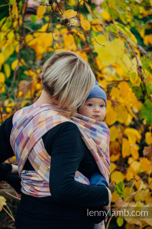 Baby Wrap, Crackle Weave (100% cotton) - QUARTET  - size XS #babywearing