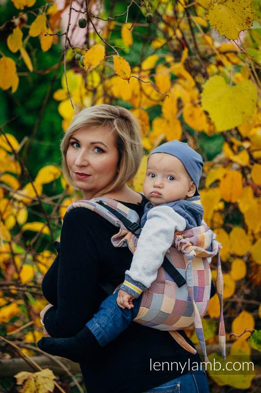 Nosidło Klamrowe ONBUHIMO , splot crackle (100% bawełna), rozmiar Standard - KWARTET  #babywearing