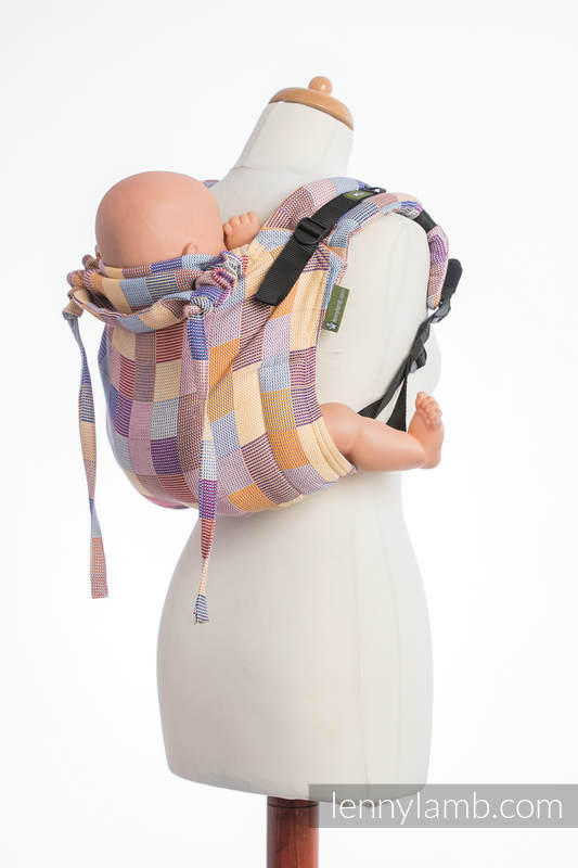Lenny Buckle Onbuhimo baby carrier, standard size, crackle weave (100% cotton) - QUARTET  #babywearing