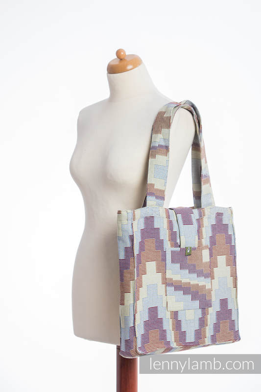 Shoulder bag made of wrap fabric (100% cotton) - TRIO  - standard size 37cmx37cm #babywearing