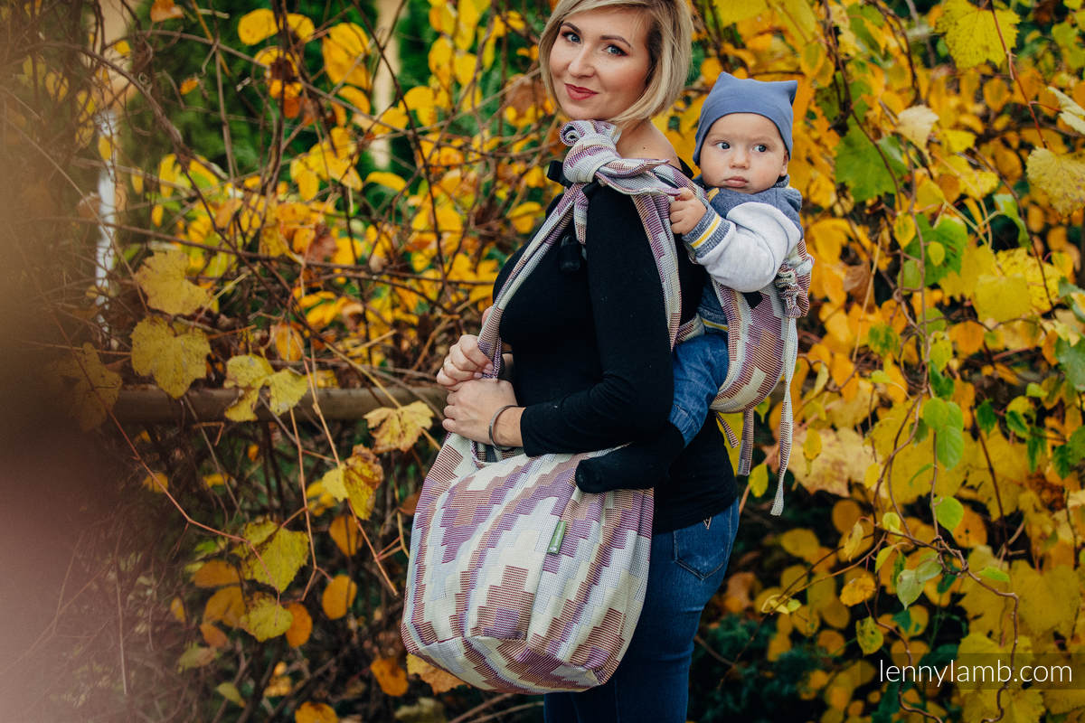 Hobo Bag made of woven fabric, 100% cotton - TRIO  #babywearing