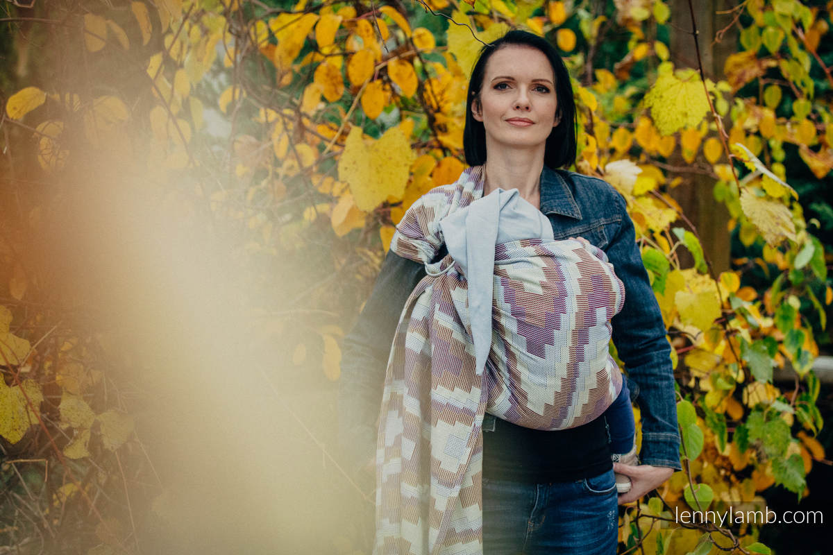 Ringsling, Crackle Weave (100% cotton) - with gathered shoulder - TRIO  - long 2.1m #babywearing