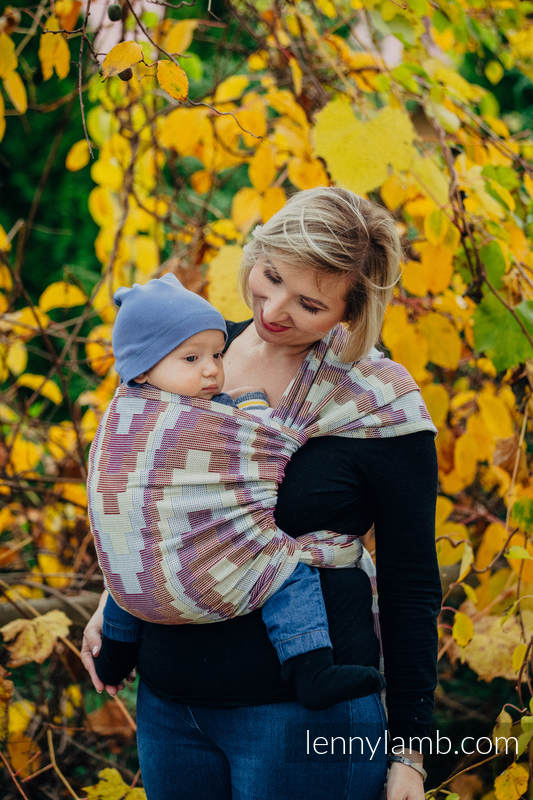 Baby Wrap, Crackle Weave (100% cotton) - TRIO  - size M #babywearing