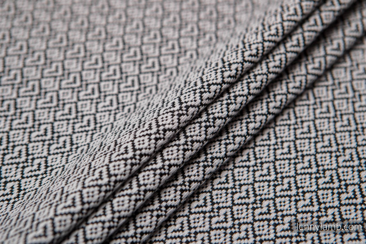 Baby Wrap, Jacquard Weave (100% cotton) - LITTLE LOVE - MYSTERY - size L #babywearing