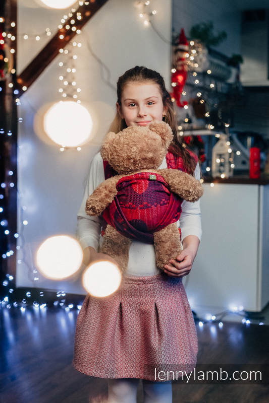 Doll Sling, Jacquard Weave, 100% cotton - WARM HEARTS WITH CINNAMON  #babywearing