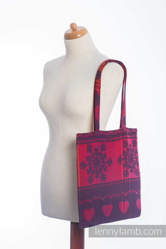 Shopping bag made of wrap fabric (100% cotton) - WARM HEARTS WITH CINNAMON #babywearing