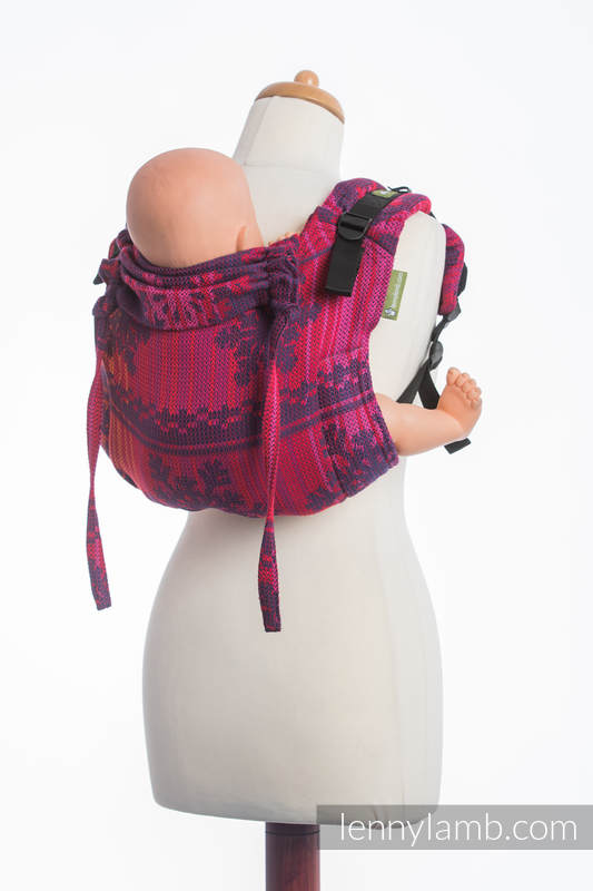 Lenny Buckle Onbuhimo, standard size, jacquard weave (100% cotton) - Wrap conversion from WARM HEARTS WITH CINNAMON  #babywearing