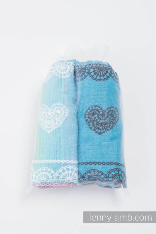 Swaddle Blanket Set - RAINBOW LACE, DIVINE LACE REVERSE #babywearing