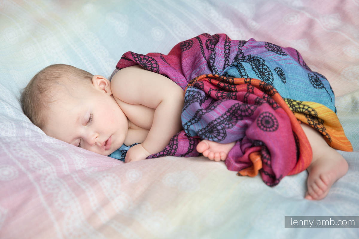 Mulldecken Set - RAINBOW LACE DARK , DIVINE LACE REVERS #babywearing
