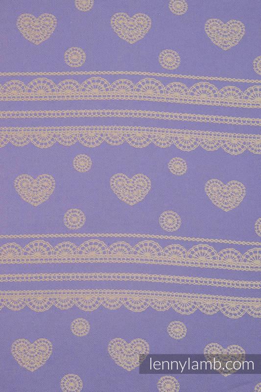 Doll Sling, Jacquard Weave, 100% cotton - PLUM LACE  #babywearing