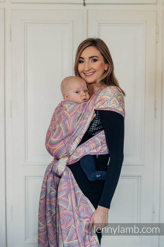 Baby Wrap, Jacquard Weave (100% cotton) - ILLUMINATION LIGHT - size XL (grade B) #babywearing