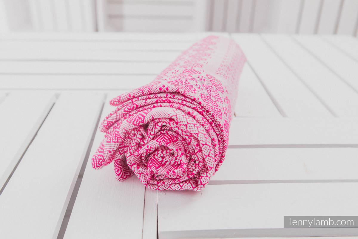 Couverture tissée (100 % viscose de bambou) Rose #babywearing