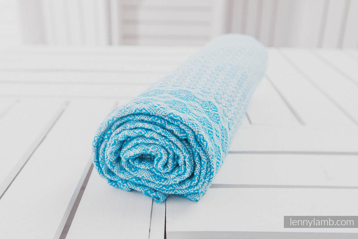 Couverture tissée (100 % viscose de bambou) Turquoise #babywearing
