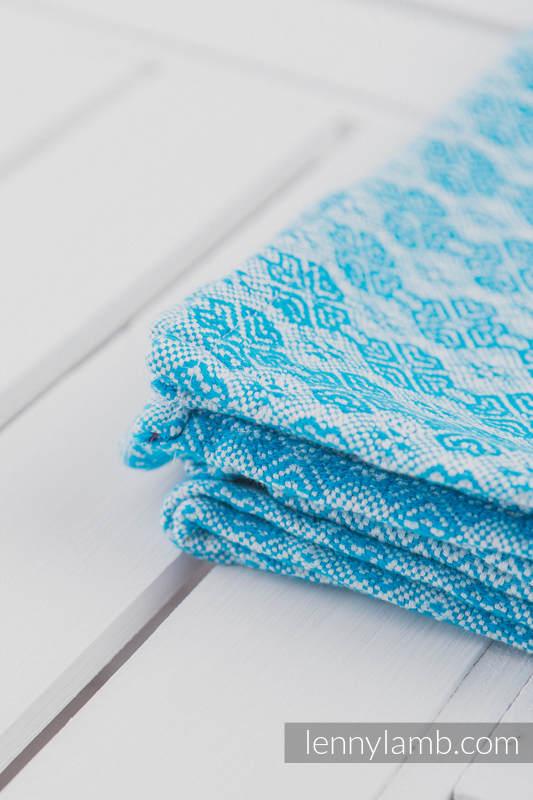 Woven Blanket (60% cotton, 40 merino wool) - Turquoise (grade B) #babywearing