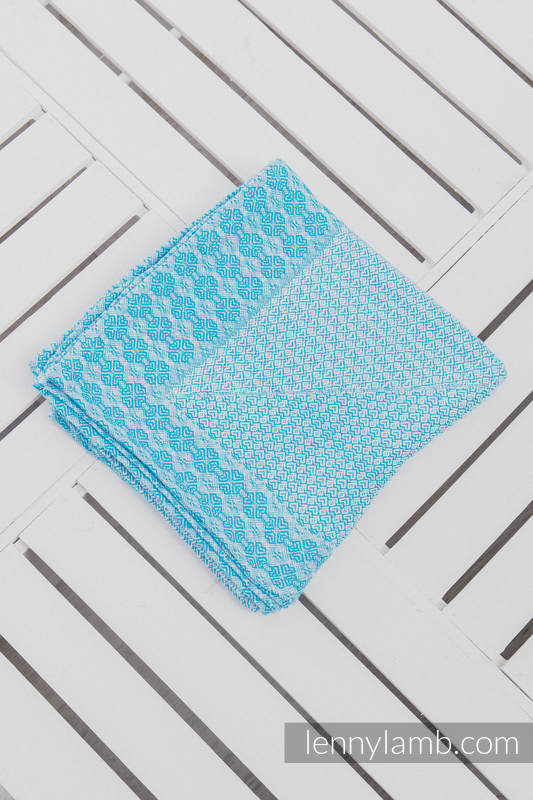 Couverture tissée (60 % coton, 40 % laine) Turquoise #babywearing