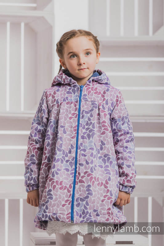 Girls Coat - size 104 - COLORS of FANTASY with Blue #babywearing