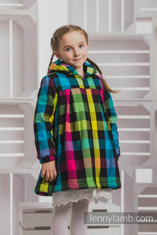 Mantel für  Mädchen - Größe 116 - DIAMOND PLAID und Schwarz #babywearing
