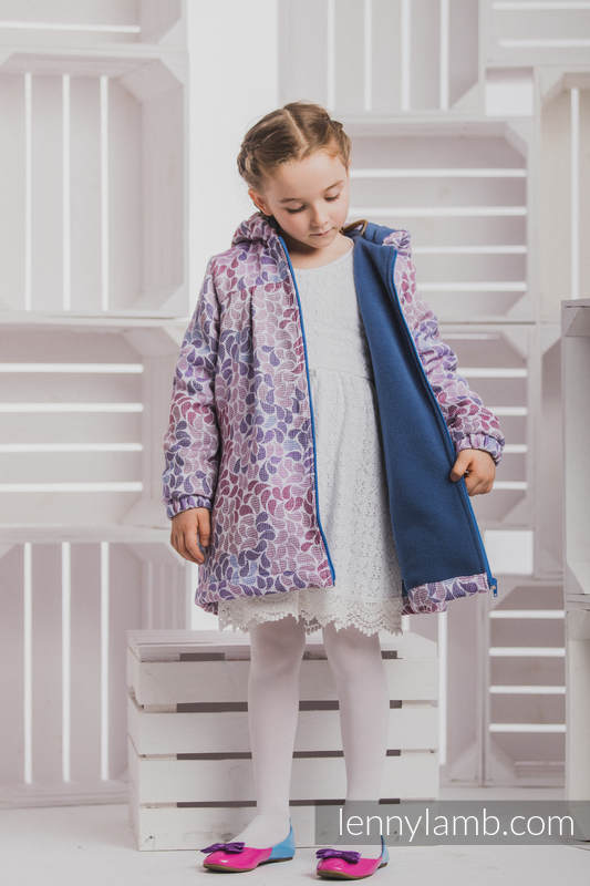 Girls Coat - size 122 - COLORS of FANTASY with Blue (grade B) #babywearing
