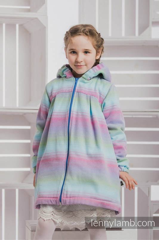 Mantel für  Mädchen - Größe 122 - LITTLE HERRINGBONE IMPRESSION und Blau #babywearing