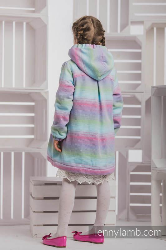 Mantel für  Mädchen - Größe 128 - LITTLE HERRINGBONE IMPRESSION und Blau #babywearing