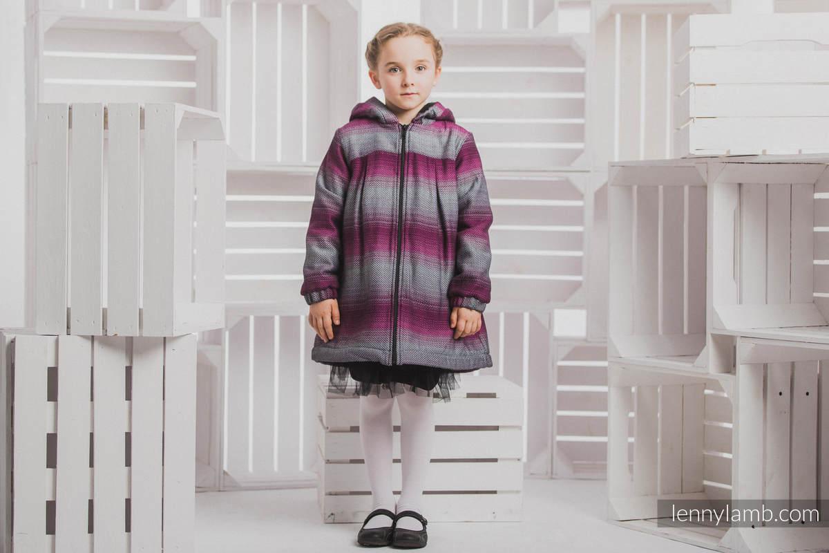 Mantel für  Mädchen - Größe 128 - LITTLE HERRINGBONE INSPIRATION und Schwarz #babywearing