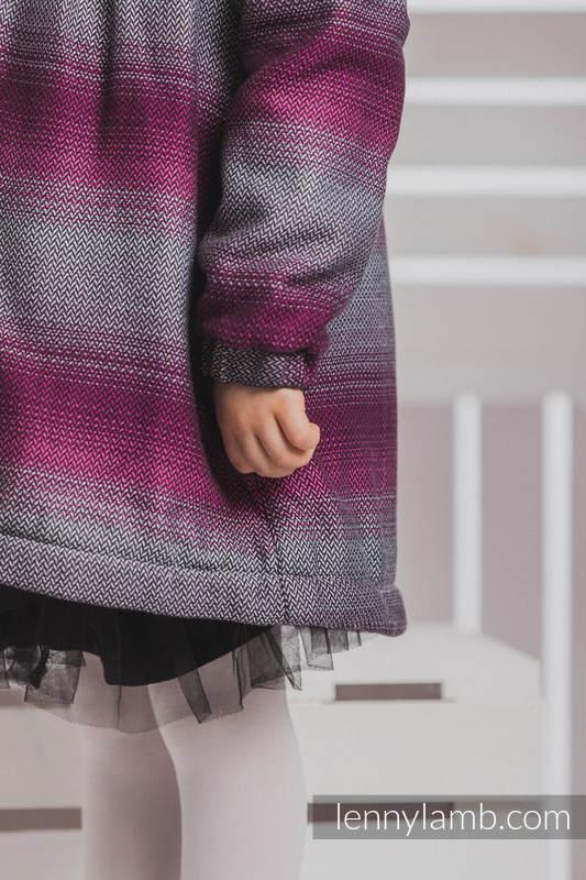 Abrigo para niñas - talla 110 - Little Herringbone Inspiration con Negro #babywearing