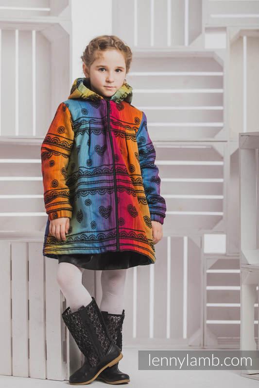Abrigo para niñas - talla 122 - Rainbow Lace Dark con Negro #babywearing