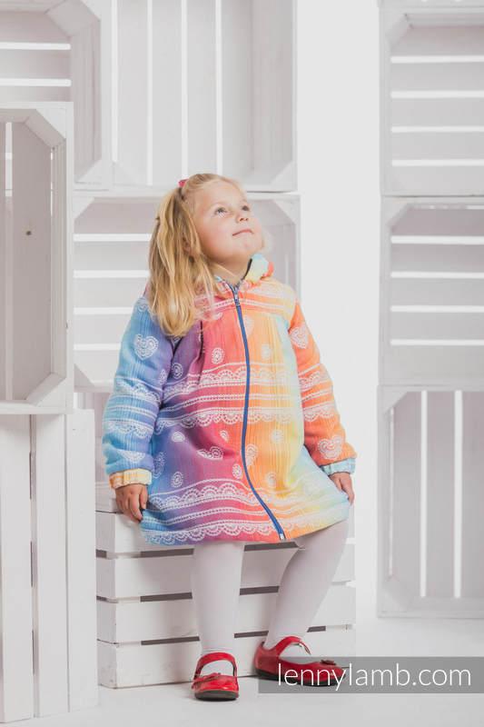 Abrigo para niñas - talla 110 - Rainbow Lace con Azul #babywearing