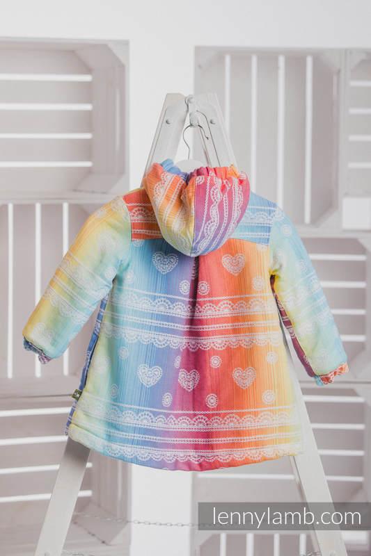 Girls Coat - size 134 - RAINBOW LACE with Blue #babywearing