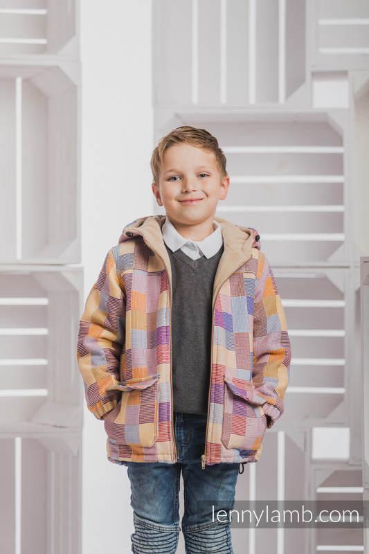 Mantel für Jungs - Größe 116 - QUARTET und Cafe Latte #babywearing