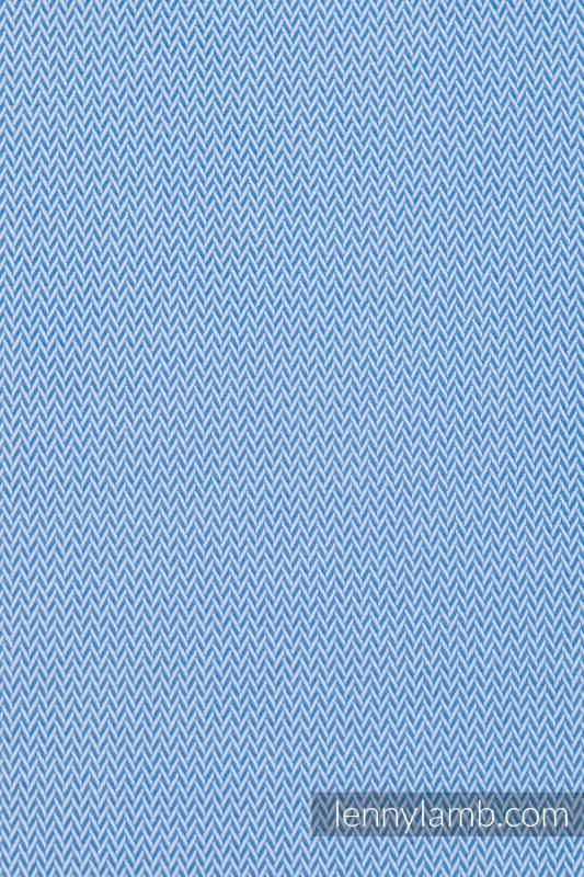 Bolsa de la compra hecho de tejido de fular (100% algodón) - LITTLE HERRINGBONE AZUL #babywearing