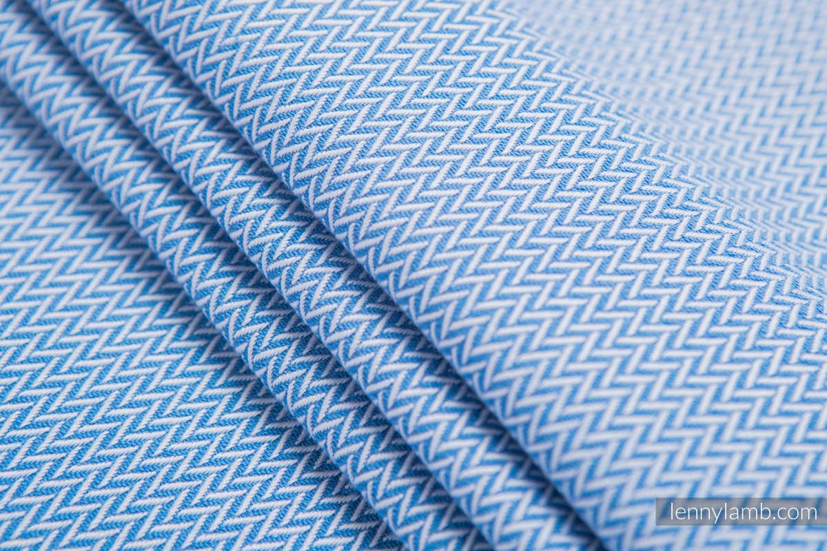 Baby Wrap, Herringbone Weave (100% cotton) - BASIC LINE -  LITTLE HERRINGBONE BLUE - size XL #babywearing