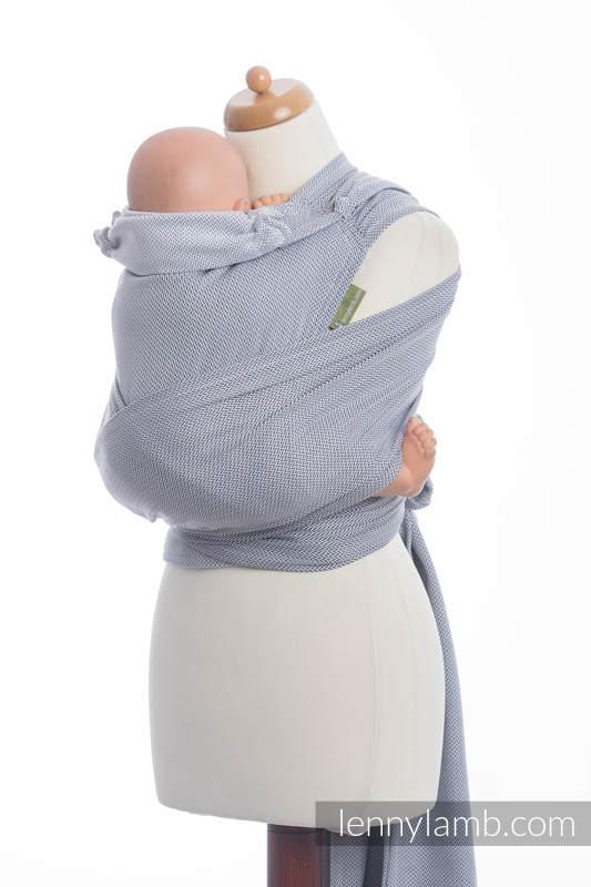 WRAP-TAI carrier Mini with hood/ herringbone twill / 100% cotton / LITTLE HERRINGBONE GREY  #babywearing