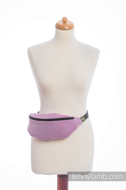 Waist Bag made of woven fabric, (100% cotton) - LITTLE HERRINGBONE PURPLE  #babywearing