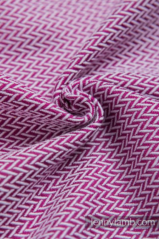 Chusta do noszenia dzieci, tkana splotem jodełkowym, bawełna - MAŁA JODEŁKA PURPUROWA - rozmiar XL (drugi gatunek) #babywearing