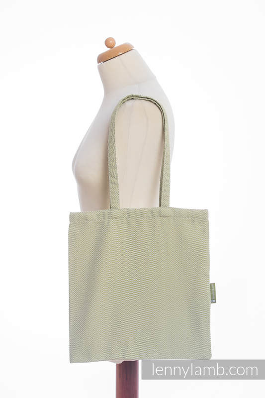 Shopping bag made of wrap fabric (100% cotton) - LITTLE HERRINGBONE OLIVE GREEN  #babywearing