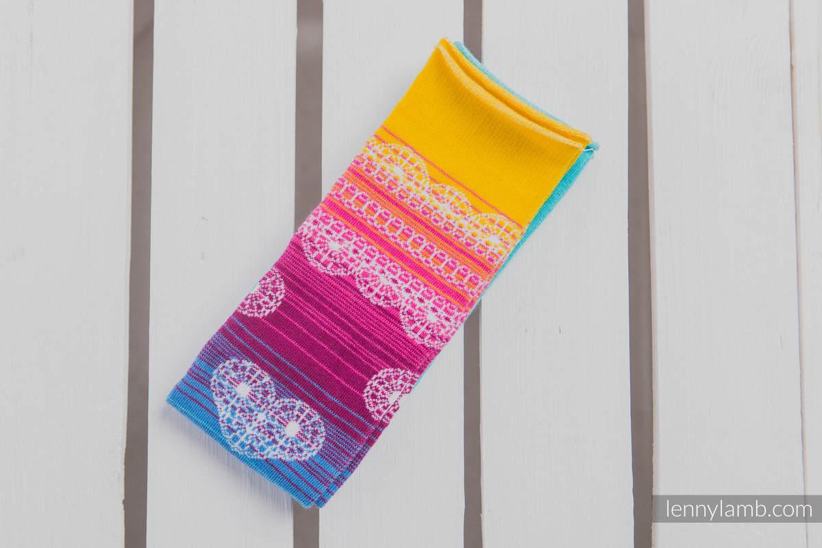 LennyLegs Long - baby leg warmers - RAINBOW LACE (grade B) #babywearing