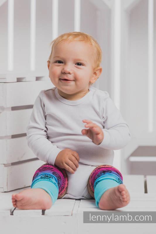 LennyLegs Long - baby leg warmers - RAINBOW LACE DARK #babywearing